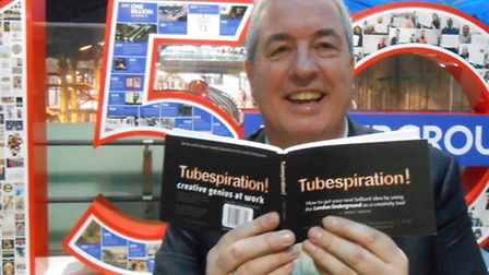 Andy Green with his book Tubespiration