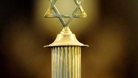 Holocaust memorial service at East London Central Synagogue in Whitechapel