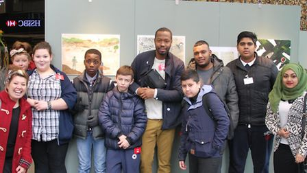 Students from George Green's School with staff from Streets of Growth.