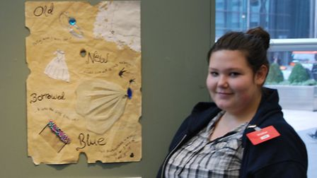 Yyear 9 pupil Lizzie Bellinger with her exhibited work
