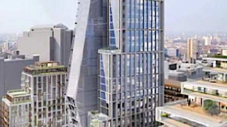Tower soon to dominate skyline at Wapping