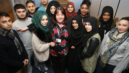 Apprentices with tutor Tracy Chesterton from East End Community Foundation