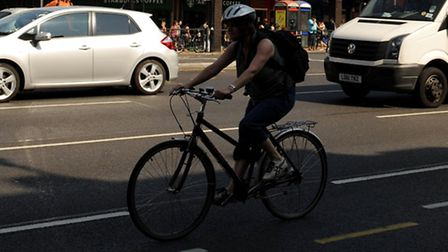 The cyclist was reunited with her stolen bike (file photo)