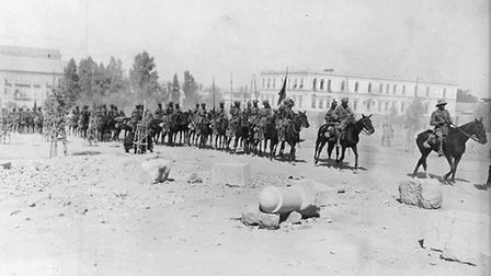 Indian Lascars in General Chauvel's ride through Damascus 2nd October 1918 Phtoto c IWM