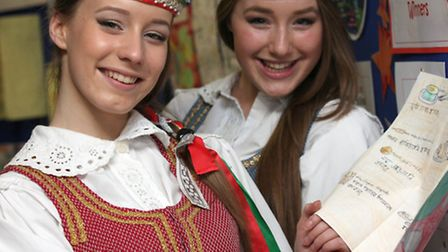 Agata, 18, and Karina, 17, from EC Lighthouse Lithuanian School