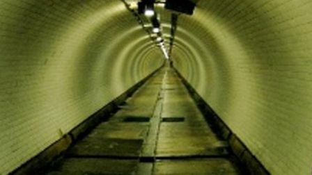Greenwich-Isle of Dogs tunnel under the Thames