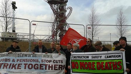 Construction Safety Campaign protest