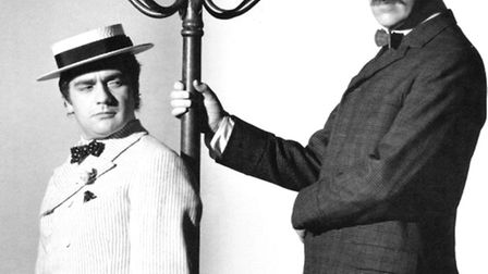 Peter Cook (right) and Dudley Moore, taken by film director Bryan Forbes