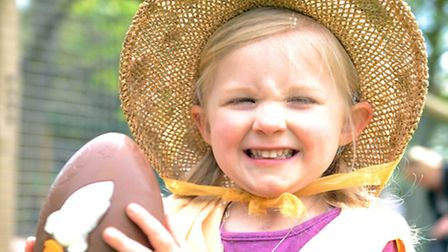 Maya Golson, aged 3, who came second place is the under 8's Easter Bonnet competition Photo: David M