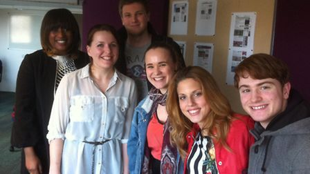 Journalism students at UEL Pictured are (left to right) Charlene White, Sian Trimble-Davey, Charlie
