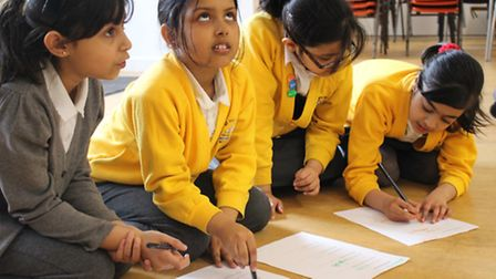 Pupils from St Paul's CE Whitechapel in Half Moon's Storyland maths programme