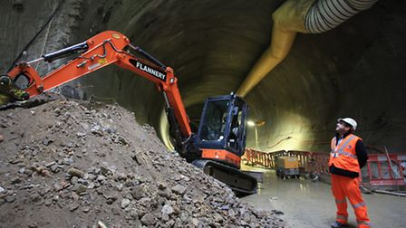 Crossrail tunneling at Stepney Green site.
