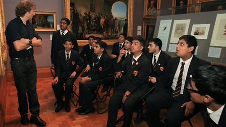 Pupils from Stepney Green College visited the National Portrait Gallery as part of the Naz Foundati