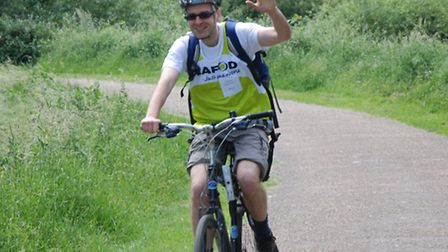 Hubert Ignatowicz has cycled for CAFOD before