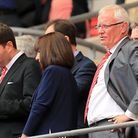 Leyton Orient chairman Barry Hearn in the stands after the game at Wembley (pic: Mike Egerton/PA)