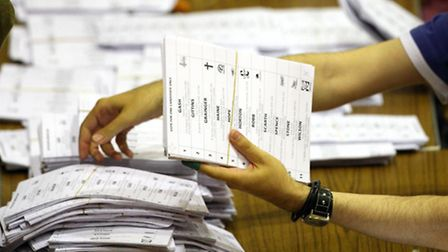 Counting your vote. Picture: Scott Heppell/PA Archive
