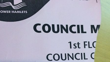 Ted Jeory's ticket stub for Tower Hamlets council meeting