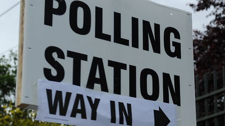 A polling station at Old Palace Primary School in Tower Hamlets