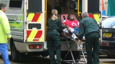 2005 London's 7/7 bombings... injured from Aldgate blast brought to Royal London [photo: Jessica Smi
