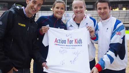 The Action for Kids Beach Volleyball experience starts this weekend after 160 tonnes of sand were p