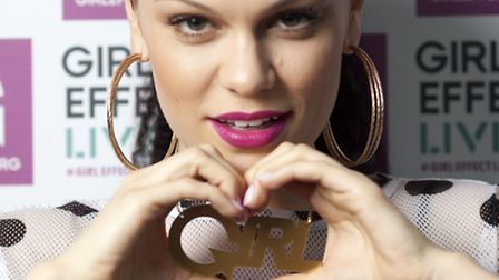 Jessie J wears necklace designed especially for Girl Effect Live, a festival to celebrate the power