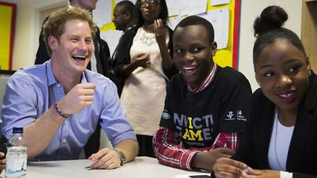 Prince Harry at Bethnal Green Academy... learning to tweet
