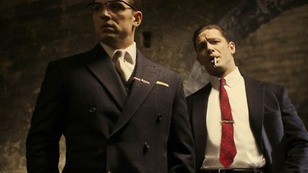 Tom Hardy as both Reggie and Ronnie Kray [Phot: Greg Williams]