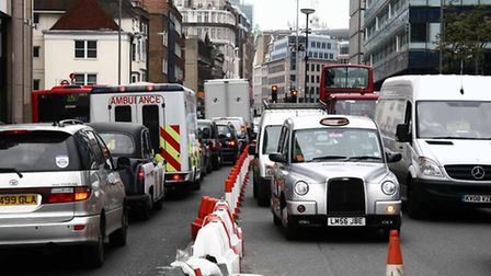 Heavy traffic in east London... City Hall campaigners call for areas to opt into 2020 Ultra-Low Emis