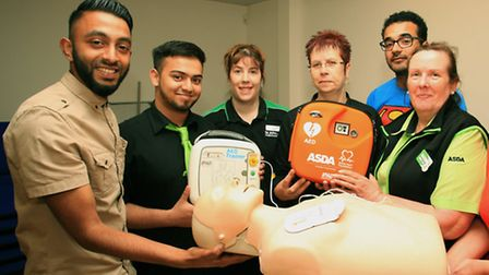 Asda employees receive CPR training as the store is rolling out defibrillators nation wide.