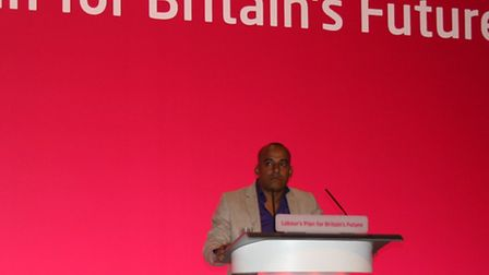 Tarik Khan at the Labour Party Conference