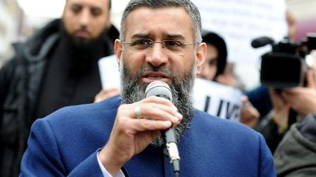 Anjem Choudary at the march against the drinking or sale of alcohol. Photo: David Mirzoeff