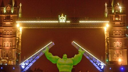 """The Hulk """"opened"""" Tower Bridge to launch the latest Disney Infinity videogame"""