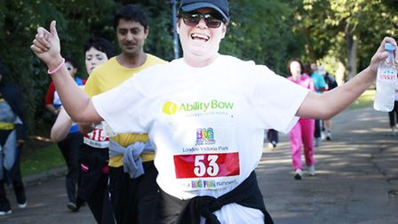 Ability Bow's Joanne Roche in a pervious Big Run to raise funds