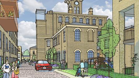 Artist's view of East London Land Trust's St Clement's Mile End project