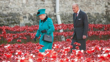 Queen Elizabeth visits the Tower of London ahead of Remembrance Day Picture: Richard Lea-Hair