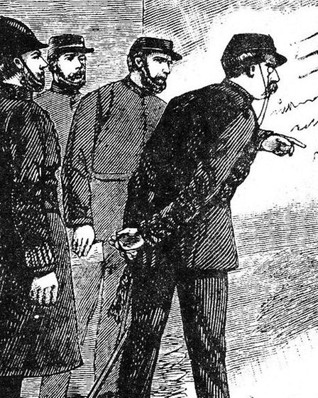 Sir Charles Warren orders Jack the Ripper's graffiti in Goulston St to be removed