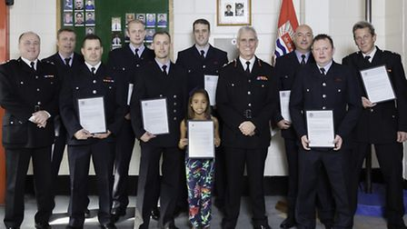 Fire fighters from across east London stations received commendations for their bravery during the i