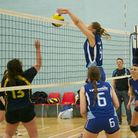 Action from the latest UEL women's BUCS volleyball match on Big Blue Wednesday
