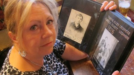 Sue Letchmere, great-great granddaughter of Ripper suspect, with the Letchmere family album