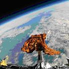 The Tayyabs tandoori lamb chop attached to a GoPro camera in space