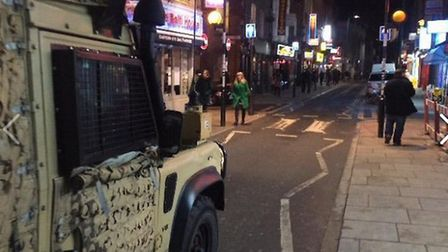 Britain First post pictures of their armoured van in Whitechapel