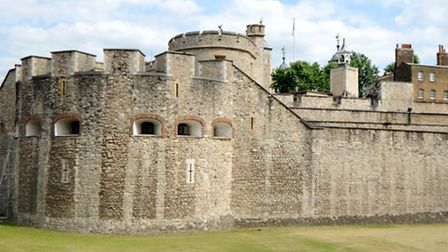 Coins were stolen from a moat at the Tower of London
