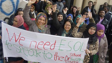 Tutors and students leave Tower Hamlets College for Budget Day lobby of MPs over cuts to Further Edu