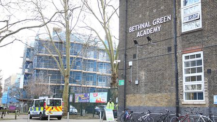 Bethnal Green Academy in East London where three teenager girls from the School are believed to be m