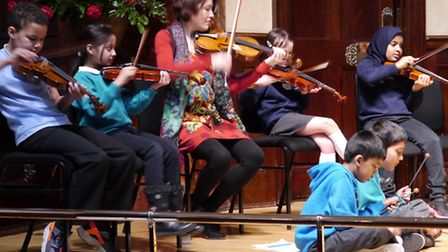 On the fiddle... Arnhem Wharf pupils' in Wigmore Hall debut
