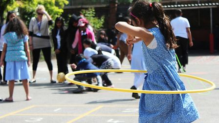 Hoola-hooping fun at Stewart Hedlam school in Fit For Sports pilot activity programme