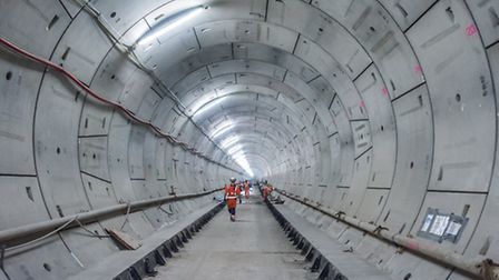 Crosasrail's completed tunnel under East London [photo: Andrew Parish]