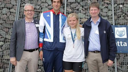 A Tower Hamlets youngster with her medal at the London Youth Games kayak slalom event (pic: LYG)