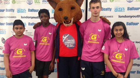 Morpeth School's Murhad Hussain, Antony Lynch and Jamie Dignum helped Tower Hamlets qualify for the