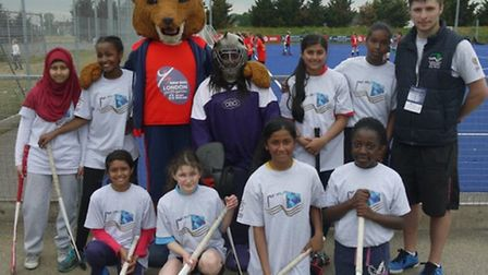 Tower Hamlets youngsters face the camera at the London Youth Games hockey competition (pic: LYG)